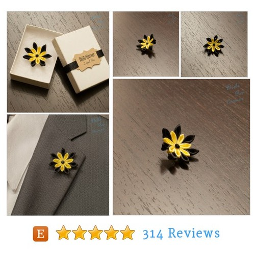 Lapel Flower, Satin Flower Lapel Pin, Black #etsy @didiartcorner  #etsy #PromoteEtsy #PictureVideo @SharePicVideo