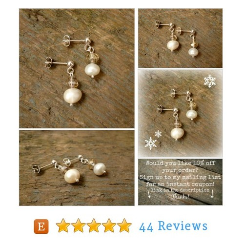 Pearl Studs, Pearl earrings, pearl stud #etsy @reccabella https://www.SharePicVideo.com/?ref=PostPicVideoToTwitter-reccabella #etsy #PromoteEtsy #PictureVideo @SharePicVideo