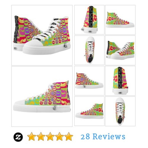 Sassy Lips POP Art High-Top Sneakers #socialselling #PromoteStore #PictureVideo @SharePicVideo
