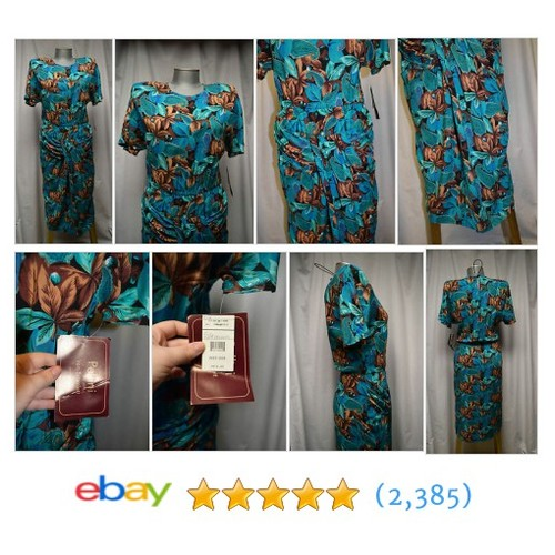 Womens Dress Pellini Von Bramlett Green Floral Size 5 / 6 Brown NEW #ebay @beckaskeepers  #etsy #PromoteEbay #PictureVideo @SharePicVideo