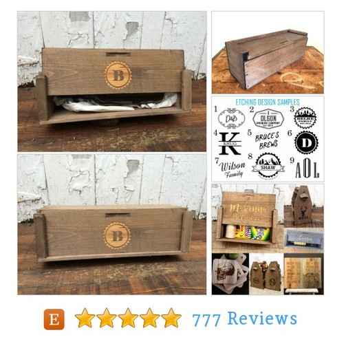 Wooden Wine Box With Custom Monogram #home #etsy @reimaginebrewin  #etsy #PromoteEtsy #PictureVideo @SharePicVideo