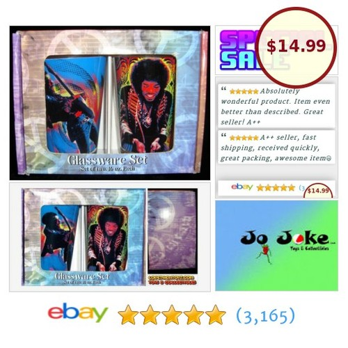 JIMI HENDRIX SET- 2 GLASSES-BOXED-NEW-2 DIFFERENT PICTURES OF JIMI PLAYING-RARE! | eBay #JIMIHENDRIXSETOF2GLASS #etsy #PromoteEbay #PictureVideo @SharePicVideo