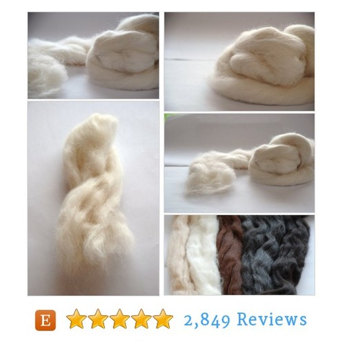 ALPACA FIBER - white natural #tool #yarn #etsy @woolfinchstudio  #etsy #PromoteEtsy #PictureVideo @SharePicVideo