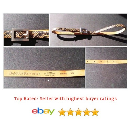 Banana Republic #Belt Leather Skinny Size xs snake skin print | eBay #WaistBelt #BananaRepublic #etsy #PromoteEbay #PictureVideo @SharePicVideo