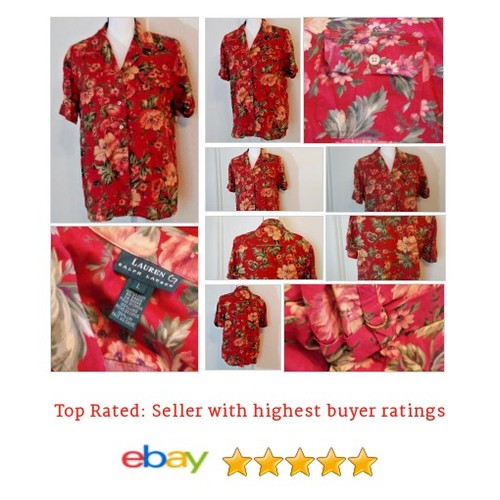 Lauren Ralph Lauren Multi-Color Short Sleeve Women's #Blouse Linen Size L Floral | eBay #Top #WomensClothing #etsy #PromoteEbay #PictureVideo @SharePicVideo