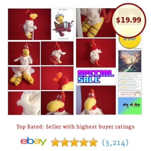 WARNER BROS STUDIO STORES-FOGHORN LEGHORN-BEAN PLUSH-9 INCH-ROOSTER -NEW-TAGS | eBay #WARNERBROSSTUDIOSTORE #etsy #PromoteEbay #PictureVideo @SharePicVideo