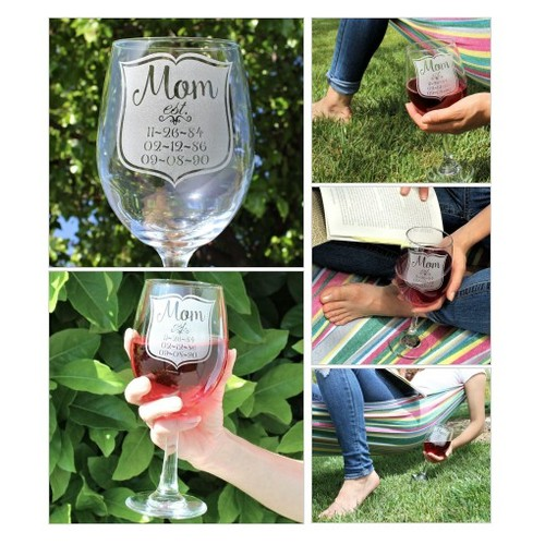 Mom Wine Glass Style #2 @ScissorMill  #socialselling #PromoteStore #PictureVideo @SharePicVideo