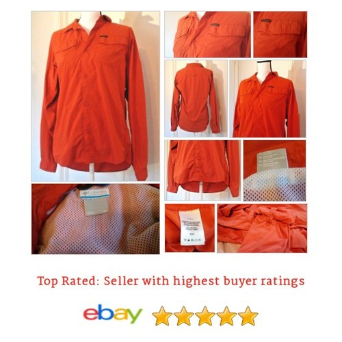 Columbia Women's Shirt Size XL Button Down Vented Long Sleeve Roll-up Feature Or | eBay #Top #Blouse #Columbium #etsy #PromoteEbay #PictureVideo @SharePicVideo