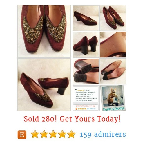 Vintage Size 7 M Brown Suede Pumps Gold Beaded Glam Shoes Chunky Heels EUR 38 #WomensShoe https://www.etsy.com/listing/586522890/vintage-size-7-m-brown-suede-pumps-gold?ref=shop_home_active_1 #etsy #PromoteEtsy #PictureVideo @SharePicVideo