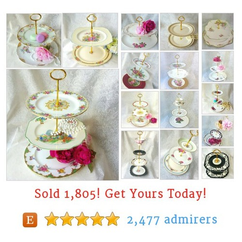 Vintage CAKE STANDS Etsy shop #etsy @handbvintage  #etsy #PromoteEtsy #PictureVideo @SharePicVideo