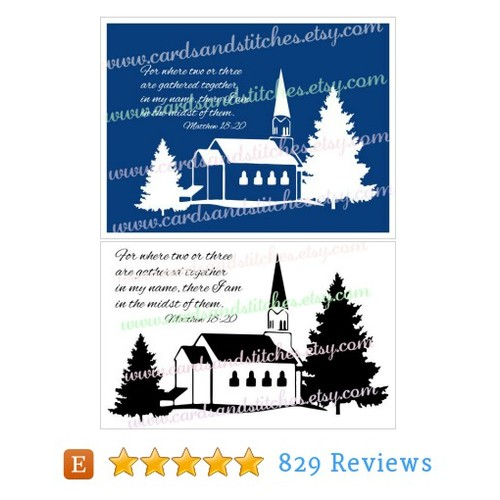 Church SVG - Church in the Woods - #etsy @cardsandstitch  #etsy #PromoteEtsy #PictureVideo @SharePicVideo
