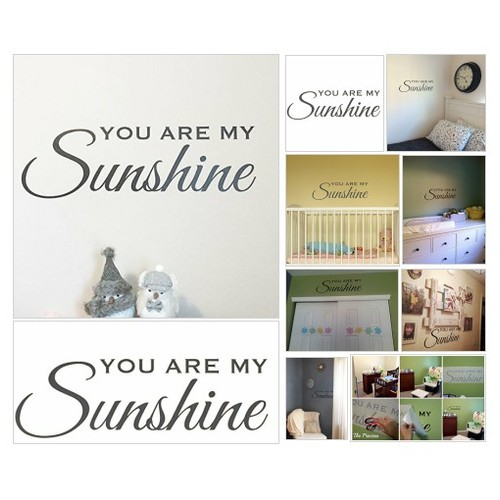 You Are My #Sunshine #Decal nursery decor baby girl or boys room decoration, Black #socialselling #PromoteStore #PictureVideo @SharePicVideo
