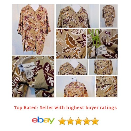 Island Blue Men's Shirt Size XL Silk Blend Aloha #Hawaiian Floral Multi-Color Fun | eBay #IslandBlue #CasualShirt #etsy #PromoteEbay #PictureVideo @SharePicVideo