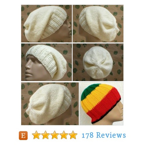 Slouchy hat, cream ivory aran winter white, #etsy @taschekats  #etsy #PromoteEtsy #PictureVideo @SharePicVideo