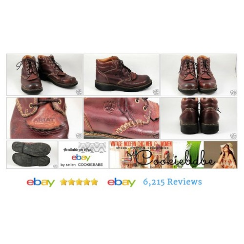 ARIAT Canyon Womens Sz 10 B  Leather Ankle Boots Kiltie Brown Leather #Oxford #WomensShoe #etsy #PromoteEbay #PictureVideo @SharePicVideo