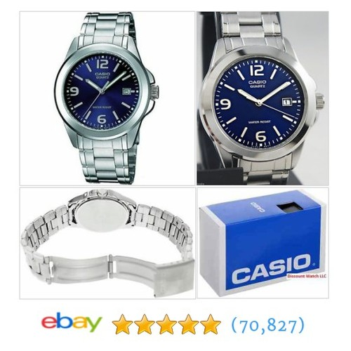 Casio Mens MTP1215A-2A Stainless Steel Analog Casual Dress Watch #ebay @discountwatchco  #etsy #PromoteEbay #PictureVideo @SharePicVideo