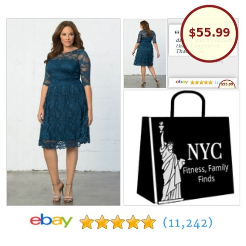 #PlusSize blue lace cocktail dress, combines comfort and awesome style! #BridesMaid #etsy #PromoteEbay #PictureVideo @SharePicVideo