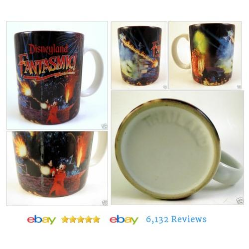 DISNEY FANTASMIC #Mug Sorcerer Mickey Coffee Porcelain Fantasia Dragon #Disney #Dinnerware #etsy #PromoteEbay #PictureVideo @SharePicVideo