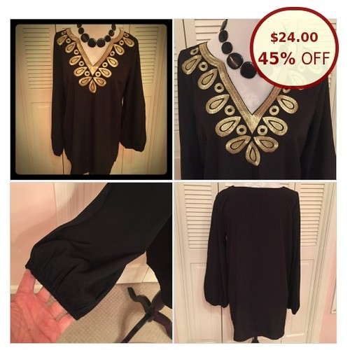 Mud Pie Corinne Embroidered Tunic Black/Gold @aamatthews https://www.SharePicVideo.com/?ref=PostPicVideoToTwitter-aamatthews #socialselling #PromoteStore #PictureVideo @SharePicVideo