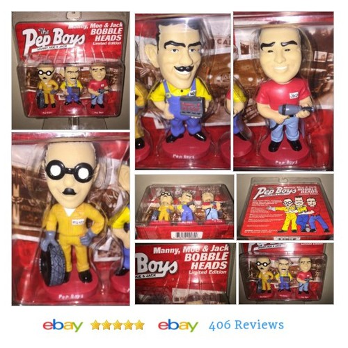 The Pep Boys Manny Moe Jack Bobble Heads Limited Edition #Modern #Promotional #Advertising #etsy #PromoteEbay #PictureVideo @SharePicVideo