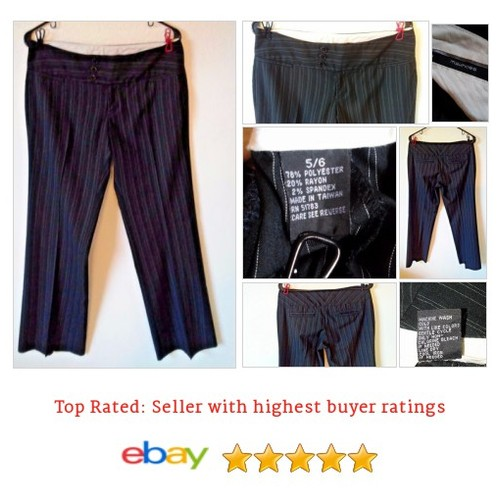 "Maurices Dress Pants 32"" Inseam Sz Medium Black Pinstripe 
