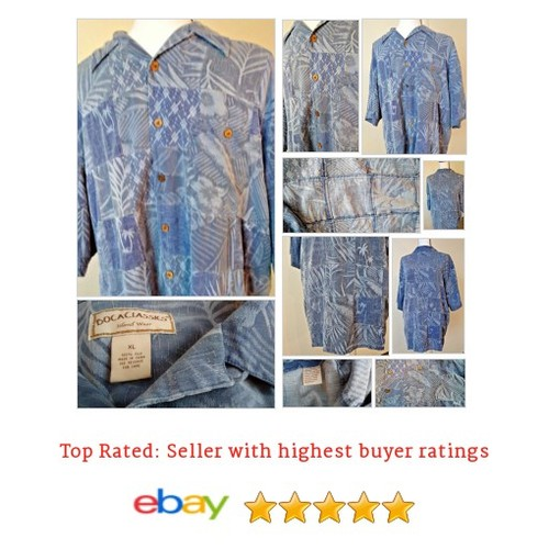 Boca Classics Men's #Hawaiian Patchwork Blue Shirt Size XL Palm Print 100% Silk | eBay #BocaClassic #CasualShirt #etsy #PromoteEbay #PictureVideo @SharePicVideo
