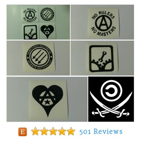 4 Decal set: Assorted Anarchy Symbols Vinyl #etsy @proxyprophet  #etsy #PromoteEtsy #PictureVideo @SharePicVideo