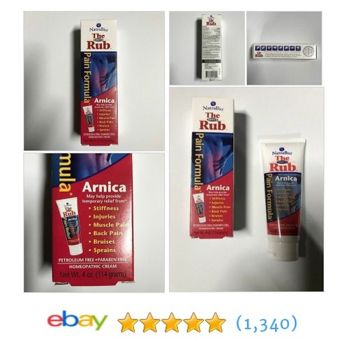Natra-Bio The Arnica Rub Pain Relief Homeopathic Non Greasy Non Scented 4 oz  | eBay #etsy #PromoteEbay #PictureVideo @SharePicVideo