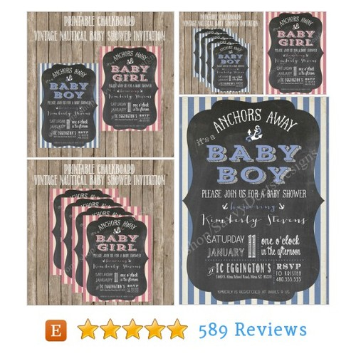 Chalkboard Vintage Nautical Baby Shower #etsy @savvybridedeets  #etsy #PromoteEtsy #PictureVideo @SharePicVideo