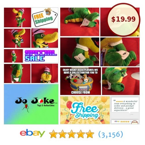 WARNER BROS STUDIO STORES-WALLY GATOR-9 IN-BEAN PLUSH-HANNA BARBERA-NEW/TAGS | eBay #WARNERBROSSTUDIOSTORE #etsy #PromoteEbay #PictureVideo @SharePicVideo