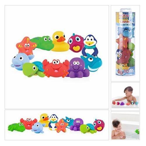 # Nuby #10-Pack #Little #Squirts# Fun #Bath #Toys, #Assorted# Characters # Baby #socialselling #PromoteStore #PictureVideo @SharePicVideo