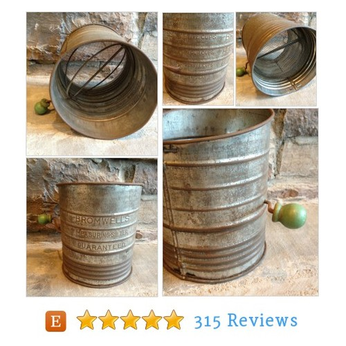 Vintage Bromwells Flour Sifter w/ Crank #etsy @myvintagealcove  #etsy #PromoteEtsy #PictureVideo @SharePicVideo