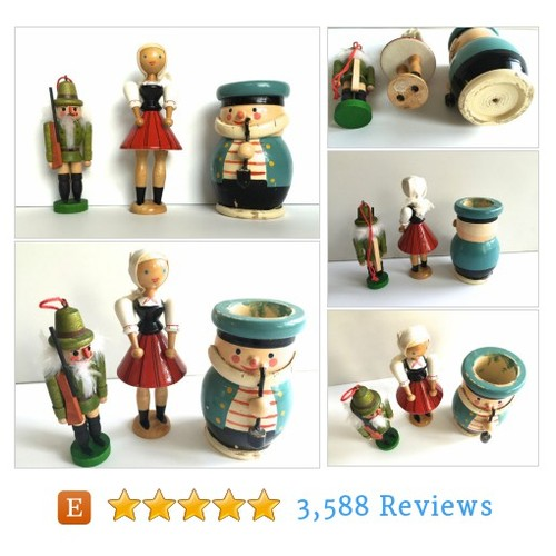 3 Vintage Wooden Figurines Children's Toys #etsy @neatokeen  #etsy #PromoteEtsy #PictureVideo @SharePicVideo