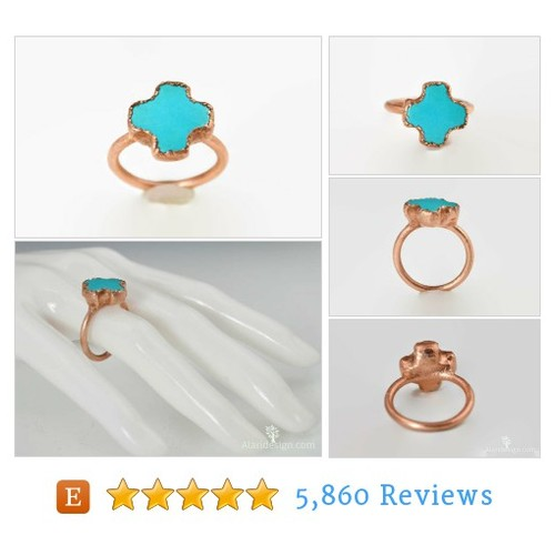 Turquoise Cross Copper Ring, Gemstone #etsy @alari_jewelry  #etsy #PromoteEtsy #PictureVideo @SharePicVideo