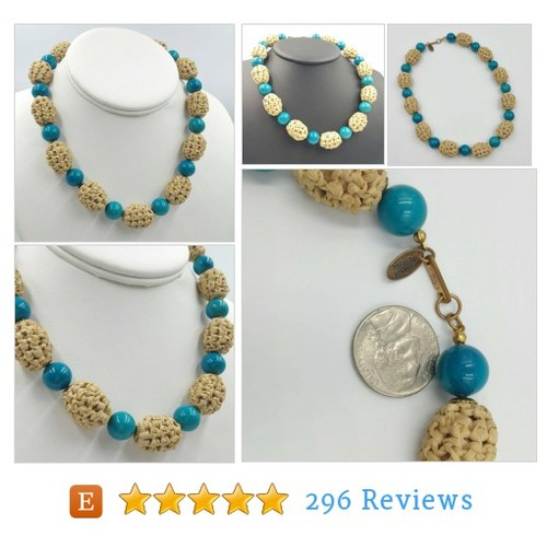 Miriam Haskell Necklace Sisal Beads #etsy @ladyanlibrarian  #etsy #PromoteEtsy #PictureVideo @SharePicVideo