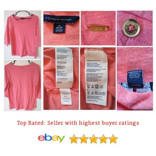 Tommy Hilfiger Shirt Long Sleeve Pink Gold Buttons Medium Size 8 10 | eBay #Top #Tunic #Blouse #etsy #PromoteEbay #PictureVideo @SharePicVideo