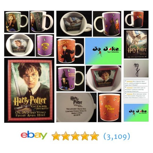 HARRY POTTER CUPS-HARRY-RON-HERMIONE-3 POTTER FILM BADGES-ENESCO-2001-NEW-UNIQUE | eBay #etsy #PromoteEbay #PictureVideo @SharePicVideo