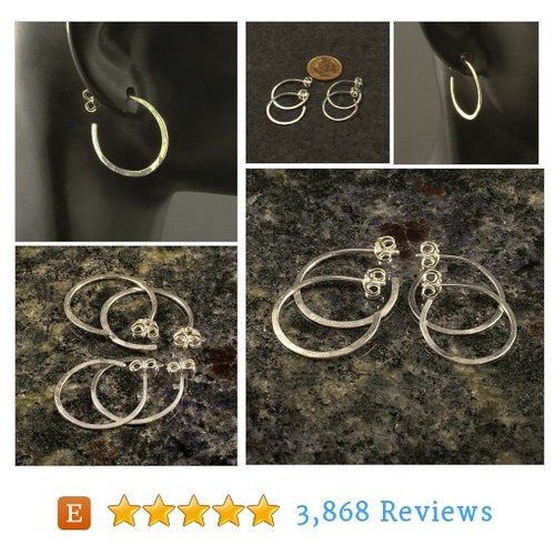 Silver Hammered Hoop Earrings in a Post or #etsy @cflnumber1fan https://www.SharePicVideo.com/?ref=PostPicVideoToTwitter-cflnumber1fan #etsy #PromoteEtsy #PictureVideo @SharePicVideo