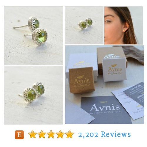 Peridot earrings,peridot studs,gemstone #etsy @osnatavni  #etsy #PromoteEtsy #PictureVideo @SharePicVideo