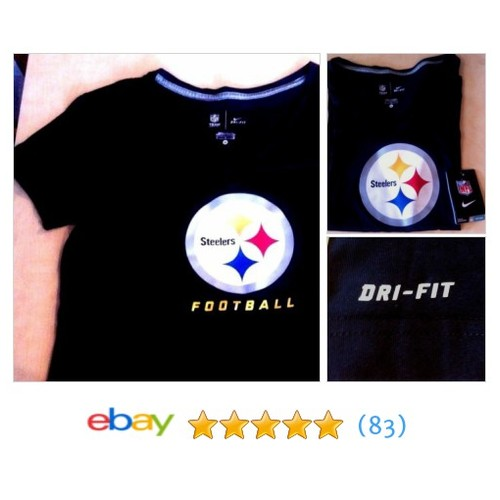 Women's #Nike NFL Steelers Football Tee/Size M/Black/Dri-Fit/Short Sleeve | eBay #TShirt #GraphicTee #etsy #PromoteEbay #PictureVideo @SharePicVideo