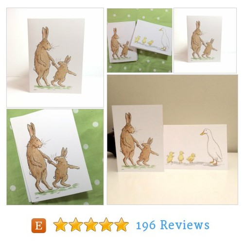Bunny Rabbits Greetings Card #etsy @joolsawilson https://www.SharePicVideo.com/?ref=PostPicVideoToTwitter-joolsawilson #etsy #PromoteEtsy #PictureVideo @SharePicVideo