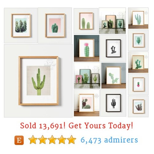 Cactus Art Etsy shop #cactusart #etsy @crown_prints  #etsy #PromoteEtsy #PictureVideo @SharePicVideo