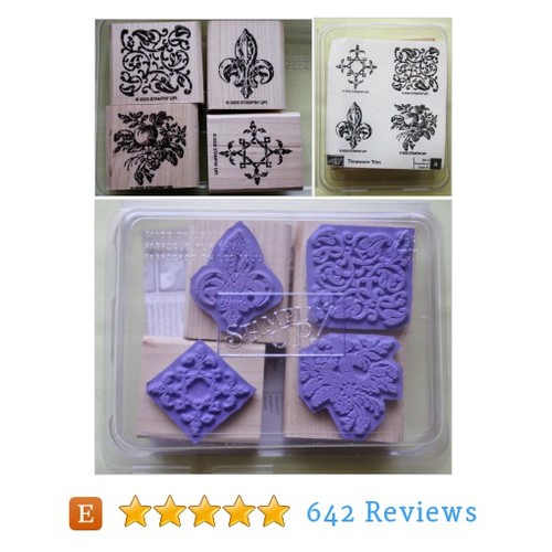 Timeworn Trim /Set of Four /Rubber Stamps #etsy @bluetreesew  #etsy #PromoteEtsy #PictureVideo @SharePicVideo