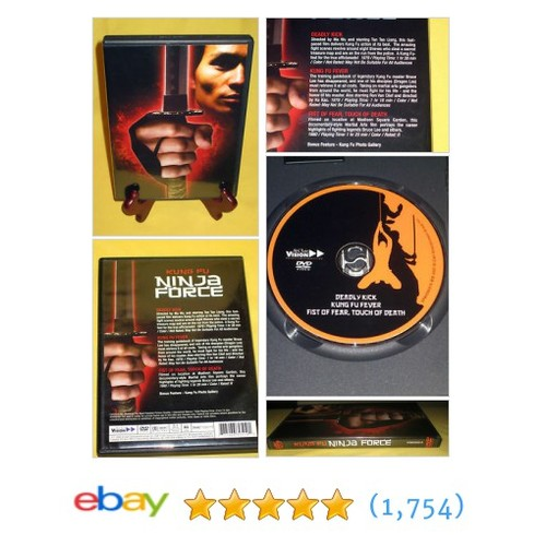 Kung Fu Ninja Force DVD 3 movie pack - VERY VERY RARE -Bruce Lee-Kung #ebay @amuseyouebay  #etsy #PromoteEbay #PictureVideo @SharePicVideo