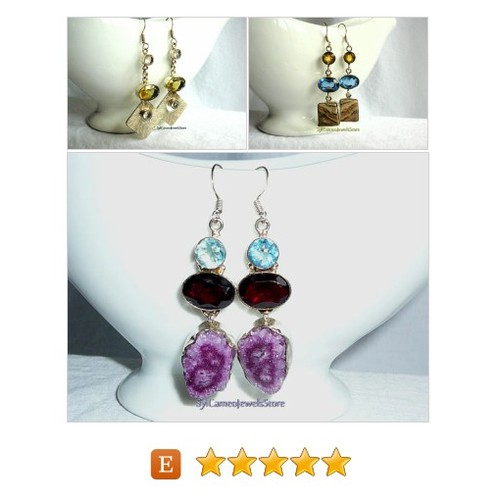#Earrings #Jewelry #SylCameoJewelsStore @EtsyRT #EarringsJewelry #handmade #gemstones #sterlingsilver #integrityT #specialT  #etsy #PromoteEtsy #PictureVideo @SharePicVideo