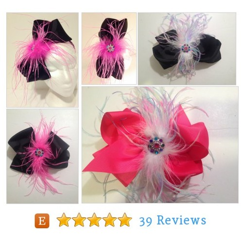 Hot Pink Black Feather Bow Fascinator #etsy @fancygirlnyc  #etsy #PromoteEtsy #PictureVideo @SharePicVideo