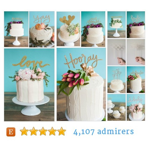 CAKE TOPPERS - Wedding by @emilysteffen  Etsy shop #CAKETOPPER  #etsy #PromoteEtsy #PictureVideo @SharePicVideo