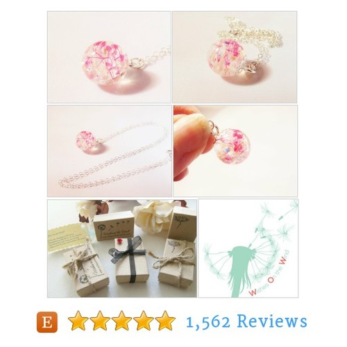 Cherry Blossom Necklace, Dewdrop, Resin #etsy @wishesonthewind  #etsy #PromoteEtsy #PictureVideo @SharePicVideo