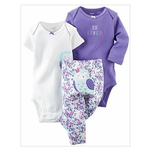 Carter's Baby Girls' 3 Piece Take Me Away Set (Baby) - Owl - 6M #socialselling #PromoteStore #PictureVideo @SharePicVideo