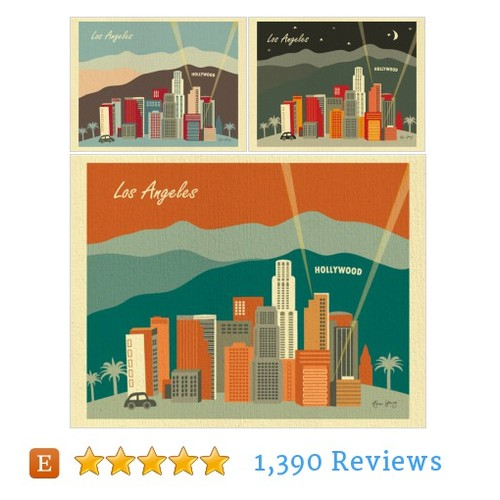 Los Angeles Skyline Art Print, LA Baby #etsy @loose_petals  #etsy #PromoteEtsy #PictureVideo @SharePicVideo